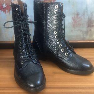 Jeffrey Campbell Ibiza. Dark navy Blue boots.